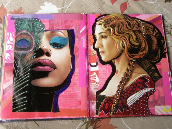 Doris Schroeder   Page 33/34  #Altered#Art#Journals