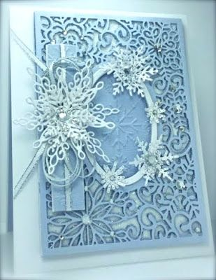 Creative Expressions, Craft Dies, Sue Wilson, 2015 Festive Collection, Snowflakes, Snow, Background, Sizzix, Embossing Folder, America, Cards by America, Winter, Holidays, Christmas, http://cardsbyamerica.blogspot.com/