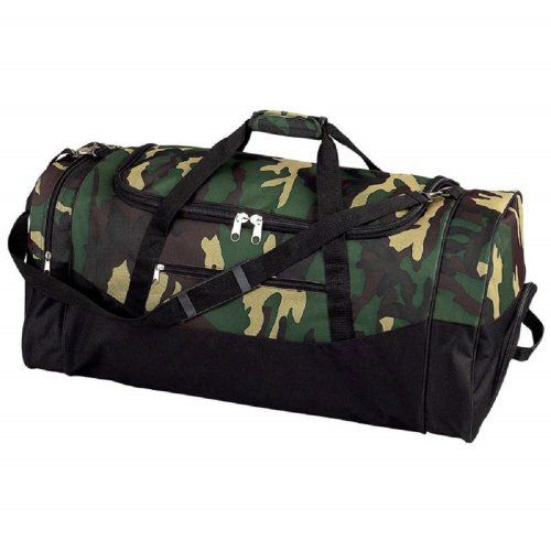 Extreme Pak Water Repellent 30inch Camouflage Duffle Bag Zippered Main Compartment - Listing price: $55.95 Now: $22.99