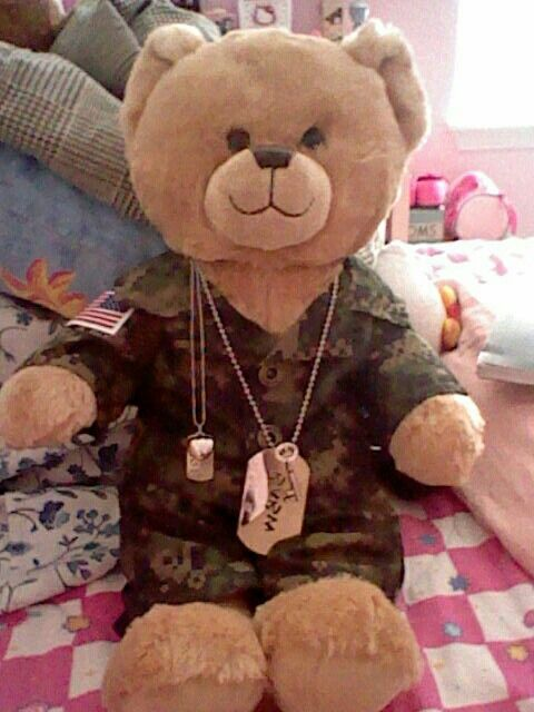 """Military Build A Bear. """"Key to my heart"""" #Army #coupon code nicesup123 gets 25% off at Provestra.com Skinception.com"""