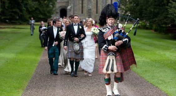 Een schotse bruiloft | Traditionele buitenlandse bruiloften ...