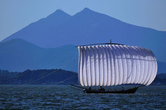 霞ヶ浦 帆引き船