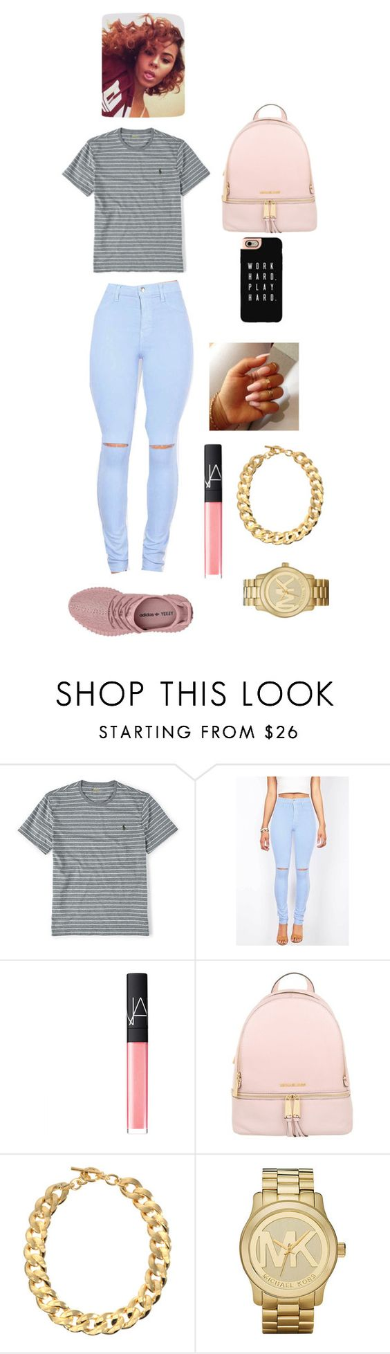 """""""💕💕💕💕💕😛😊"""" by cloutqueex ❤ liked on Polyvore featuring Ralph Lauren, NARS Cosmetics, Michael Kors and Casetify"""