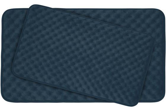 Massage 2 Piece Premium Micro Plush Memory Foam Bath Mat Set