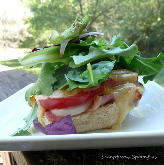 Sweet Onion Melted Gouda (SOMG!) BLT Sandwich