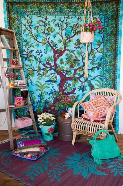 Ideas para decorar al estilo gipsy decoraci n for Muebles hippies