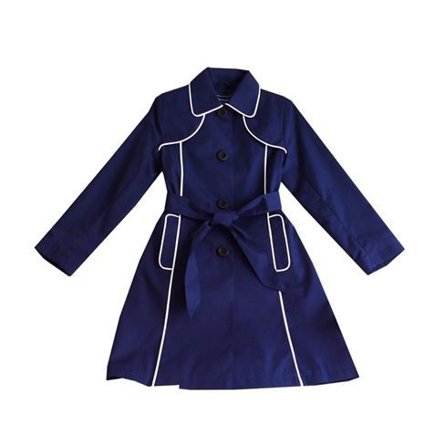 This adorable trench with white trim is perfectly adorable!  You can get 60% off by entering code SPRING60 at checkout! Which makes this $ 60 coat, just $24