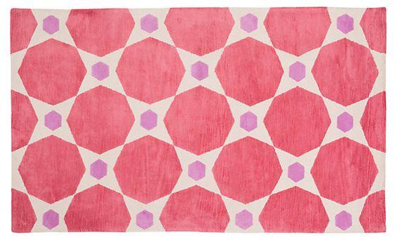 Karwia Rug, Carnation | Pretty in Pink | One Kings Lane