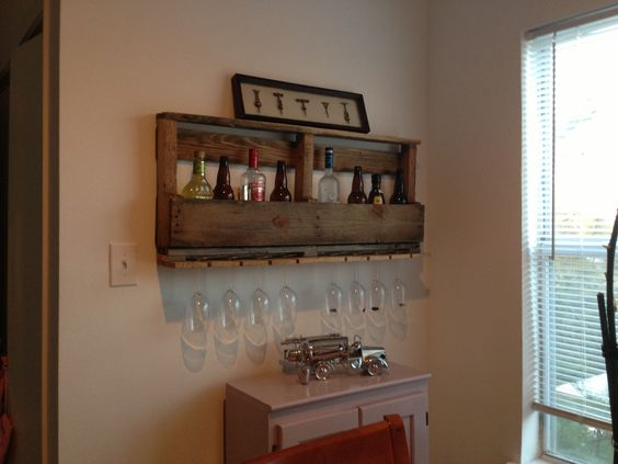 Wine rack made out of old wood pallet wine rack i made for What to make out of those old wood pallets