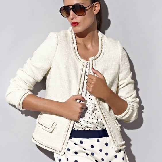 veste courte esprit couture femme premium 3 suisses pour se la jouer chanel 77. Black Bedroom Furniture Sets. Home Design Ideas
