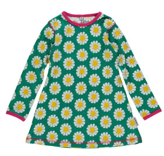 Langarm-Tunika Kleid DAISY mit Gänseblümchen