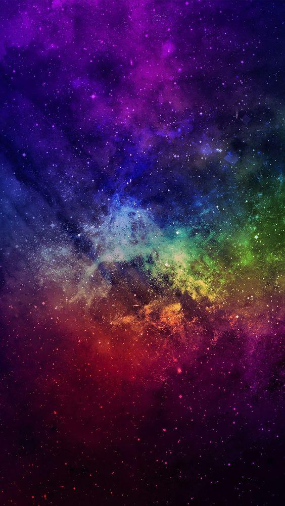Colorful Space Galaxie Aquarelle Image Fond Ecran Et Fond Ecran