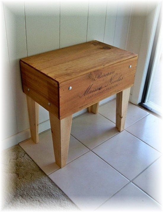 Shipping Crate TABLE Distressed Old WooD Box Upcycled by rekamepip, $140.00
