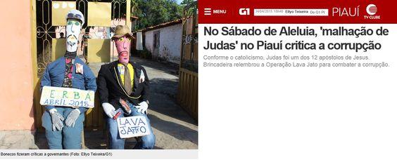 sabado de aleluia -5-4-2015 -in Brazil-malhação de judas