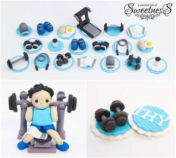 fitness themed wedding cake topper cupcakes topos de bolo e cupcakes 14303