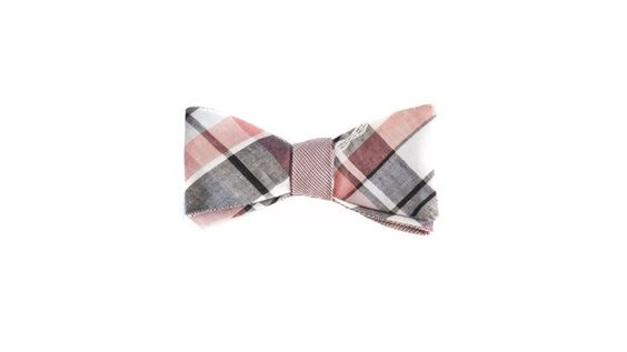 Red Plaid Cotton Bow / Title of Work