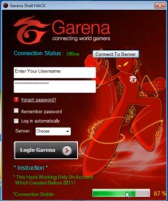 Garena hack shell generator 2015