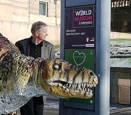 World Museum Liverpool, baby T rex puppet