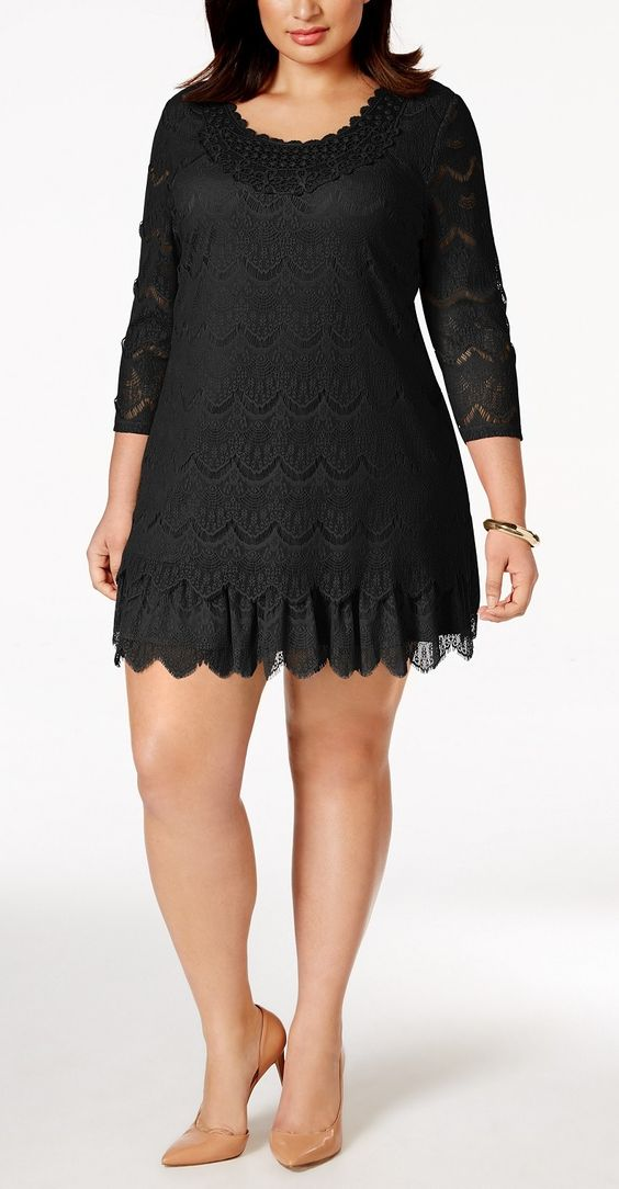 Plus Size Crochet-Lace Dress