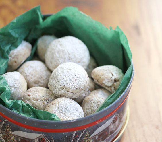 Christmas Snowballs.  These yummy snowballs will bring Christmas smiles.  Made with pecans. ( I can substitute almonds or walnuts if you don't care for pecans.)