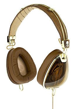 #planetsports SKULLCANDY - Aviator Headphones With Mic brown gold