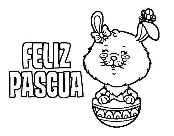 feliz pascua coloring pages | Dibujo de Te deseo una feliz Pascua para Colorear ...
