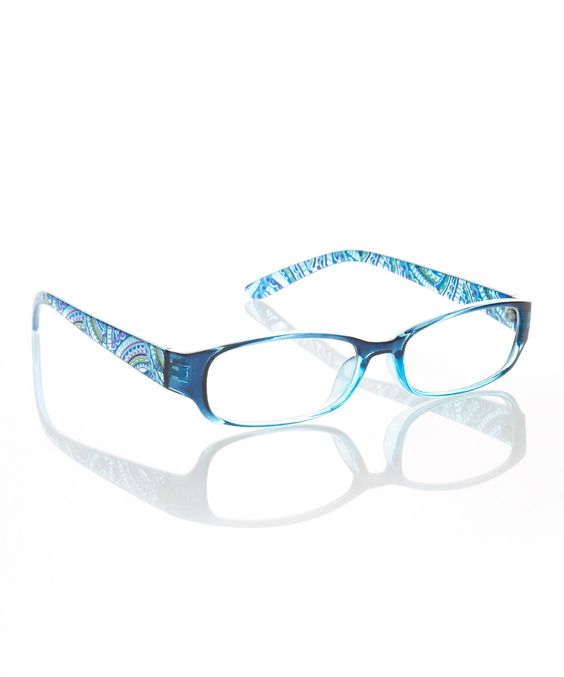 Another great find on #zulily! Clear Blue Burst Readers by Etienne Aigner #zulilyfinds