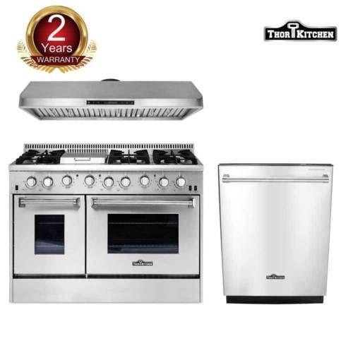 Thor Kitchen 48 Gas Range48 Under Cabinet Range Hood Dishwasher Cooking Oven Major Appliances Appliances Thor
