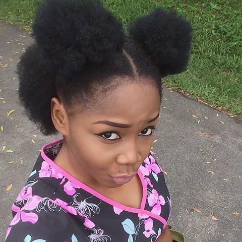 Afro Puffs after hair steam treatment!  http://www.shorthaircutsforblackwomen.com/hair-steamers-for-natural-hair/