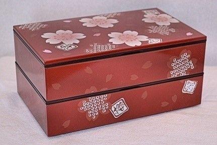 Modern Cherry Blossoms Bento #bentobox #cherryblossoms http://www.hanabentos.com/