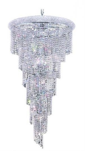 Adrienne - Hanging Fixture No Neck (22 Light Modern Grand Crystal Chandelier) - 1531SR30. This Adrienne - Hanging Fixture No Neck (22 Light Modern Grand Crystal Chandelier), is a worthy compliment to any home, office or public space.  The beautiful lighting fixture, from our collection of magnificent crystal chandeliers, comes in a variety of finishes, crystal trims (including Heirloom Grandcut, Heirloom Handcut, Swarovski Elements & Swarovski Spectra) and crystal colors.  Finish, crystal…