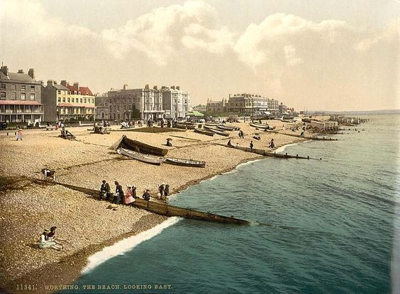 Worthing Beach!! (in olden times)