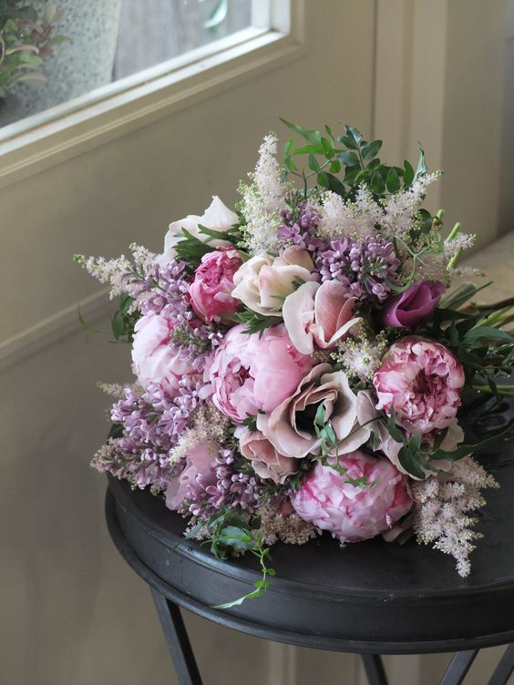 peony,anemone and lilac