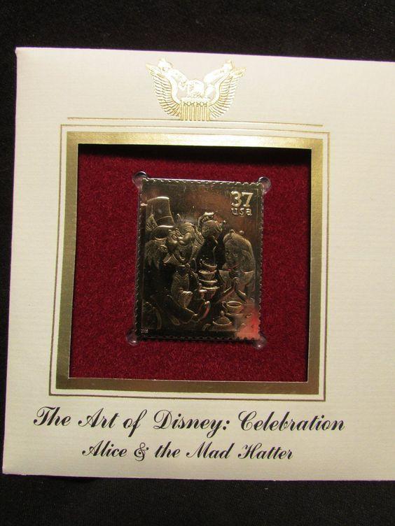 Alice in Wonderland and The Mad Hatter FDC Art of Disney 37c Stamp Scott 3913 | eBay