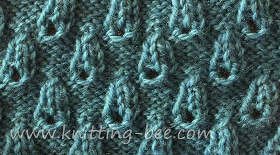 Knitting Stitches And Abbreviations : Bud Stitch Very easy and pretty textured knitting pattern. Abbreviations: k =...