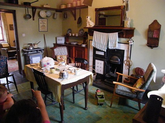 more 1940s loveliness- Pinner wrote: what I often love about these 1940s museum interiors is that they're so humble and down to earth- slightly messy, cobbled together, simple