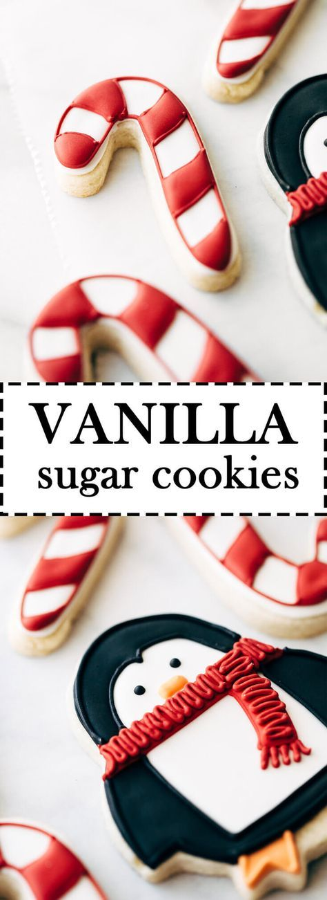 The Best Vanilla Sugar Cookie Cutouts! The perfect sugar cookie for decorating with royal icing. #sugarcookiecutouts #sugarcookies #royalicing #christmascookies