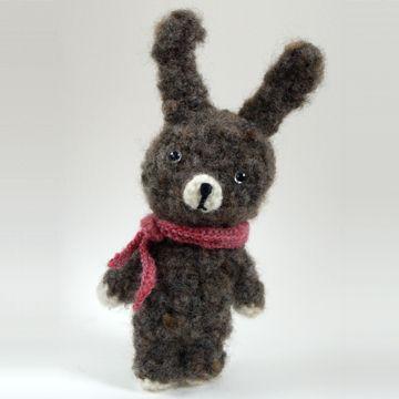 rauta/もけもけうさぎ 手紡ぎ グレー 13650yen 手紡ぎ糸の温かみと優しさあふれるあみぐるみ
