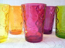 Vintage Gläser 70er bunt