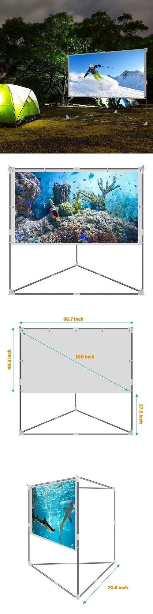 projection screens and material outdoor video screen backyard
