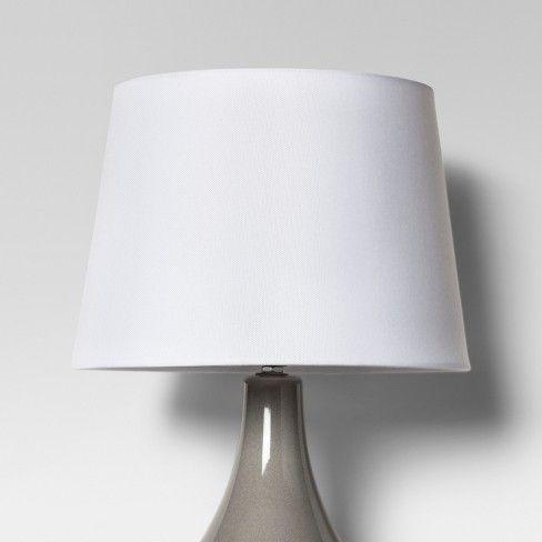 Linen Drum Lamp Shade White Threshold, White Drum Lamp Shade