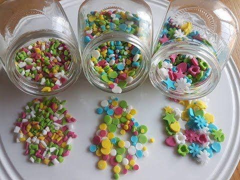 1 حبيبات السكر الملونة لتزيين الحلويات Youtube Sprinkles Candy