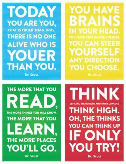 Download our free Dr. Seuss quotes printable page. Share them with friends, put them on your fridge, keep them wherever you want! Click to open PDF.