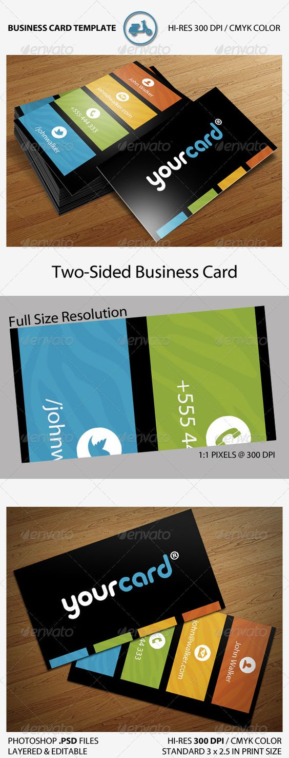 Black Zebra Business Card  #GraphicRiver         Exclusive Business Card with a very clean & minimalistic design. The colored stripes feature a subtle zebra pattern for a unique touch.  The following icons are included: - Person - Home - Mail - Phone - Twitter - Facebook  Fonts used are not included: - Repita Rounded - Myriad Pro (TT)       Created: 24February12 GraphicsFilesIncluded: PhotoshopPSD Layered: Yes MinimumAdobeCSVersion: CS PrintDimensions: 3.5x2.5 Tags: 300dpi #agency #black…