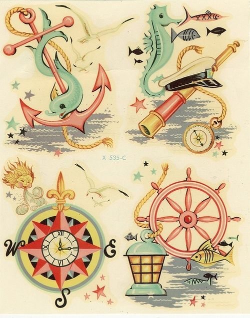 now this is adorable :) retro sea themed graphics