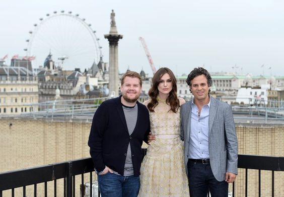 Pin for Later: The Week in Pictures: Cara and Clara Get Fruity!  James Corden, Keira Knightley, and Mark Ruffalo made the most of the view in London whilst promoting Begin Again.