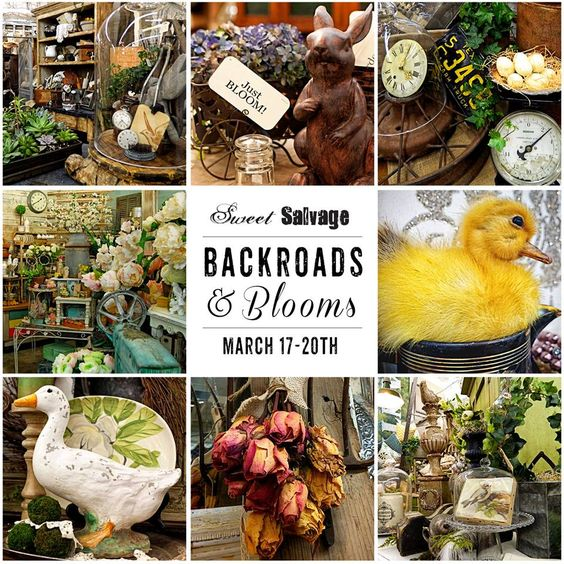 """Another poster created for """"Backroads & Blooms"""" from past events @sweetsalvage."""