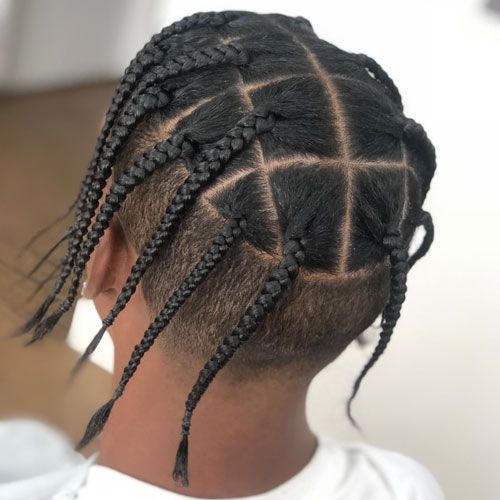 27 Cool Box Braids Hairstyles For Men 2020 Styles In 2020 Mens Braids Hairstyles Boy Braids Hairstyles Braids For Boys