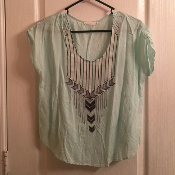Lush top Aqua blue top by Lush Lush Tops