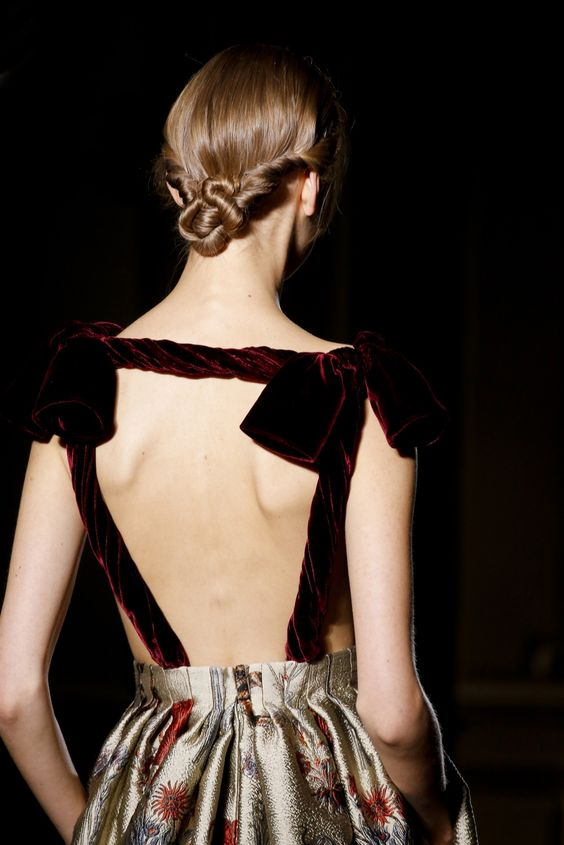 Love her hair Valentino Fall 2013 Couture